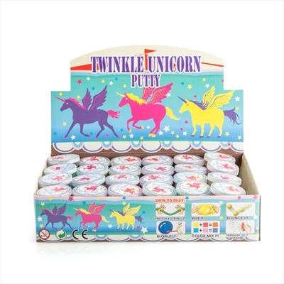 Bright and glittery putty contains a unicorn inside Combines the mystical magic of unicorns with the...