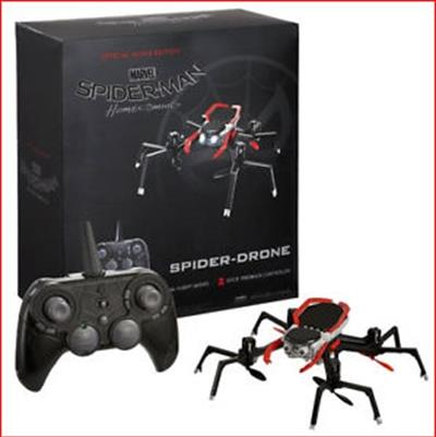 Official Movie Edition Spider-Drone, a functional replica of Spidey's eight-legged, surveillance...
