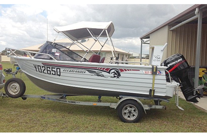 2003 Alley Craft 455 Bay Raider. 50hp Mercury Outboard, Hummingbird 898CX HD SI Combo, electric...