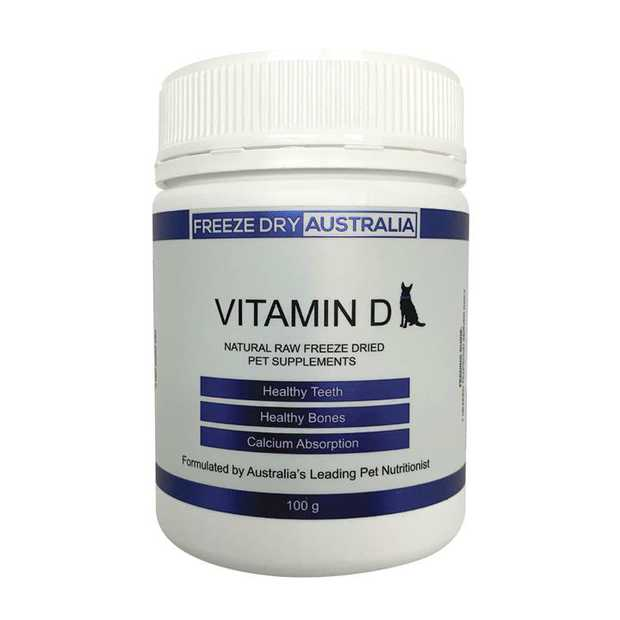 Freeze Dry Australia Natural Raw Freeze Dried Supplement for Dogs - Vitamin D - 100G