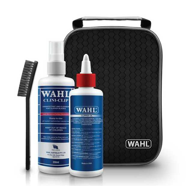 Wahl Clipper Cliniclip Cleaner & Oil Kit and Storage Bag for all Clipper Brands