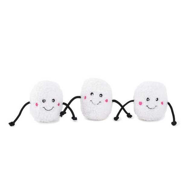 Zippy Paws Miniz Squeaker Dog Toys - 3-Pack - Marshmallows