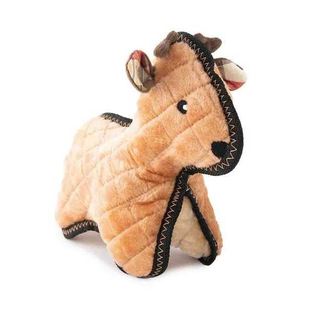 Zippy Paws Holiday Grunterz Plush Z-Stitch Dog Toy - Reindeer
