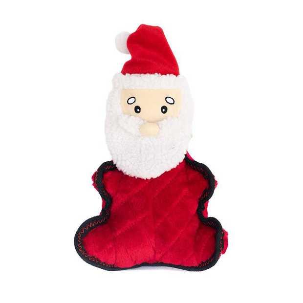 Zippy Paws Holiday Grunterz Plush Z-Stitch Dog Toy - Santa