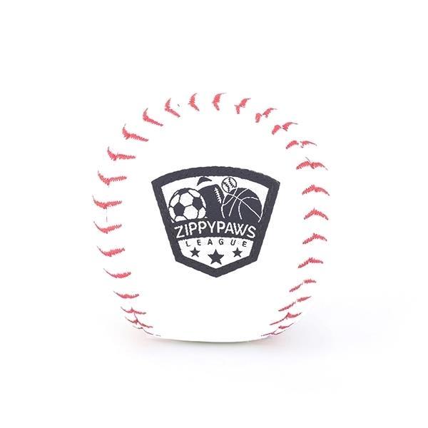 Zippy Paws Plush Squeaker SportsBallz Dog Toy - Baseball