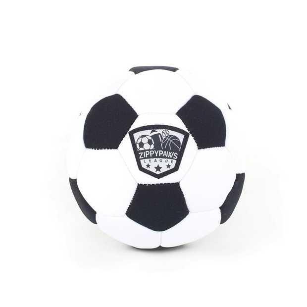Zippy Paws Plush Squeaker SportsBallz Dog Toy - Soccer