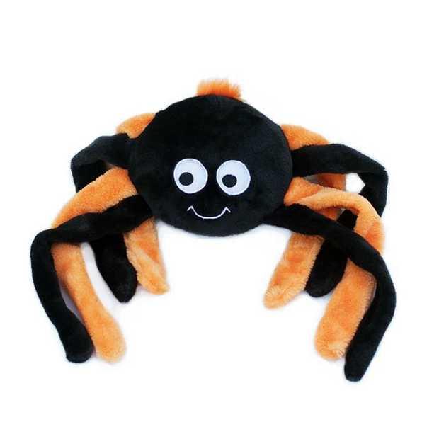 Zippy Paws Grunterz Dog Toy - Orange Spider