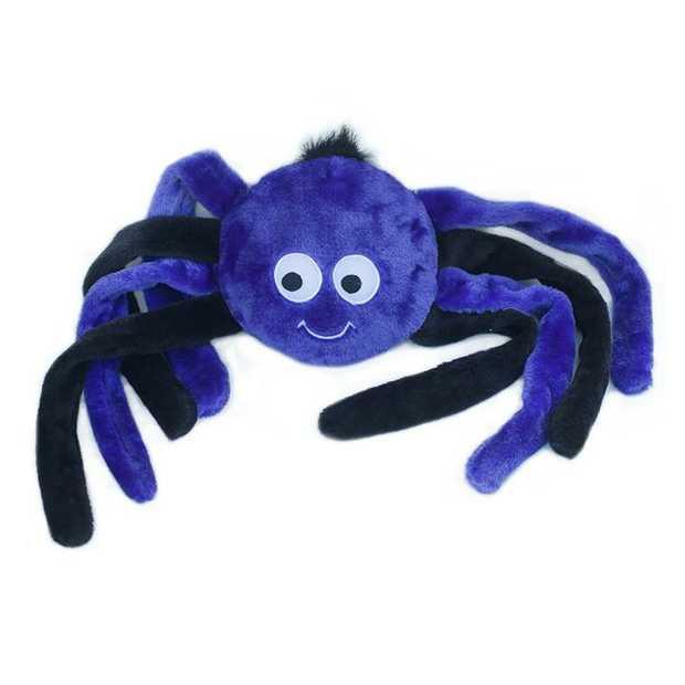Zippy Paws Grunterz Dog Toy - Purple Spider