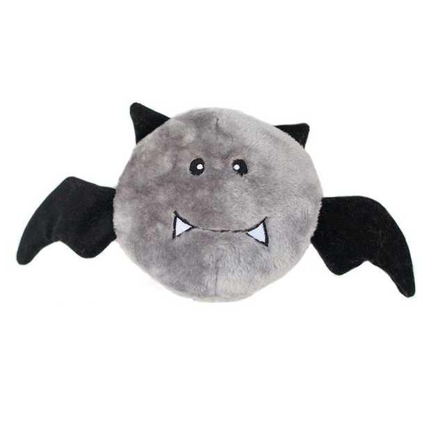 Zippy Paws Halloween Brainey Squeaker Dog Toy - Bat