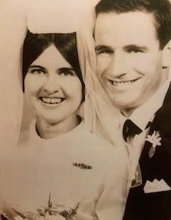 Congratulations   John & Wendy Erbacher   50th Wedding anniversary   18 October, 1969   Love...