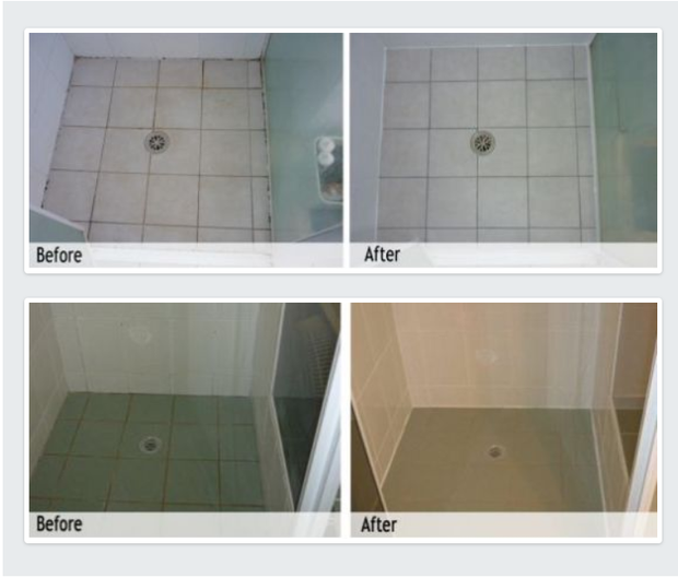 Shower repairs without removing tiles    No tiles removed  Old grout removed  Quality...