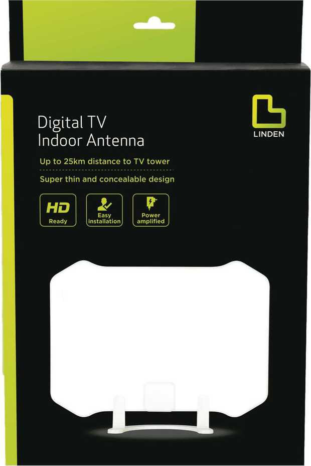 Indoor Digital TV Antenna Thin Concealable White