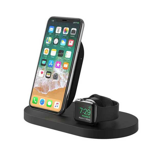 7.5W charges iPhone Supports Nightstand mode 5W/1A USB-A port charges an additional device Compatible...