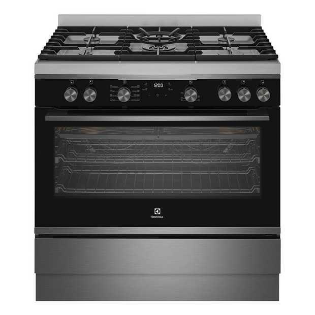 Huge 125L gross capacity oven Bake + Steam Twin fan system Powerful 22 MJ/HR wok burner Dual Flame...