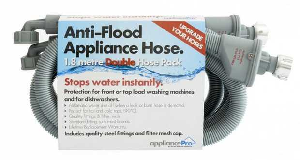 1.8m length Ideal for Top Load washers Instantly shuts off water supply Finest quality fittings (German...
