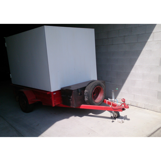 Steel Box Trailer Fully Enclosed .This fully enclosed steel trailer is 7...