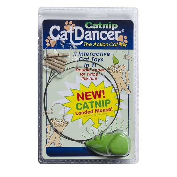 Catnip Cat Dancer Double Ended Interactive Cat Toy