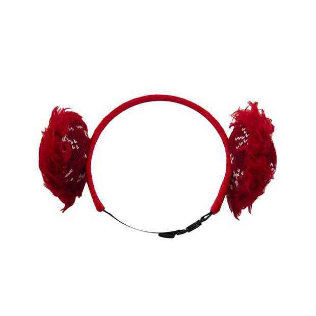 Outward Hound Fluffy Clip-on Holiday Earmuffs for Dogs - X-Small/Small