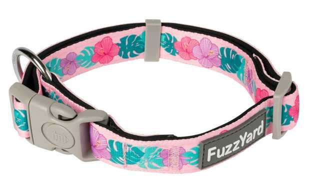 Let your buddy strut out in style with a little splash of fun with the FuzzYard Lahania Pink Dog...