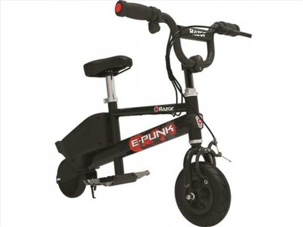 Punk your ride with the Razor E-Punk  an electric-powered micro bike! Super compact and totally...