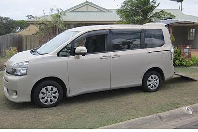 6sp, auto wagon,  106,468km,  mobility ramp to rear,  2 side auto sliding doors,  rear...