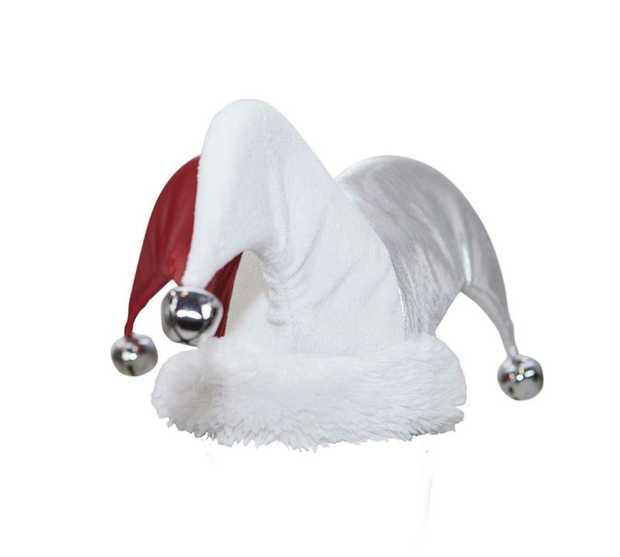 Outward Hound Santa Jester Hat Christmas Dog Toy - Large