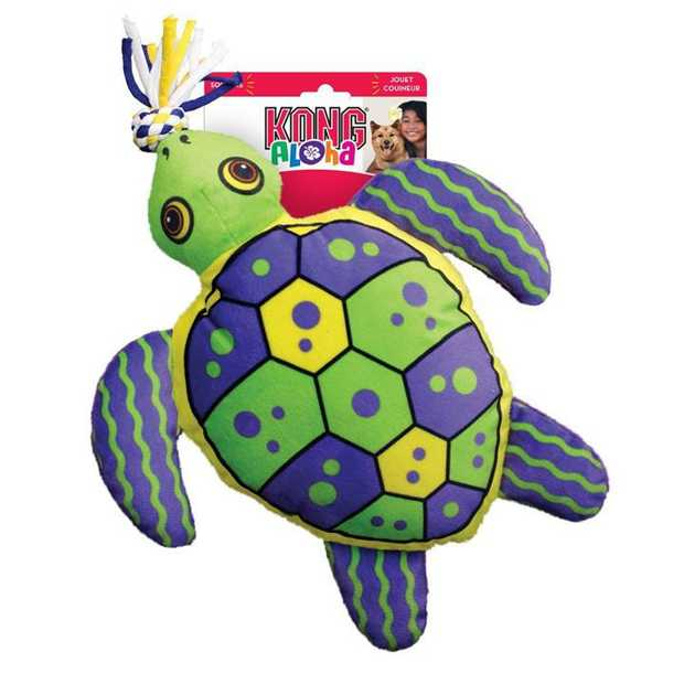 KONG Dog Toy Aloha Turtle is a soft, cuddly play toy on the exterior with tough, durable internal and...