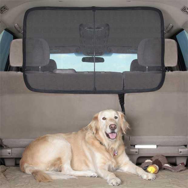 Solvit Cargo Area Net Barrier - Universal Bucket Seat Car Boot Protector