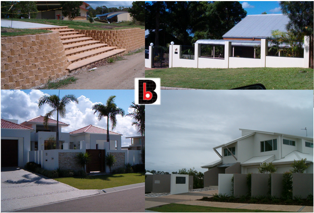 All styles of retaining walls.