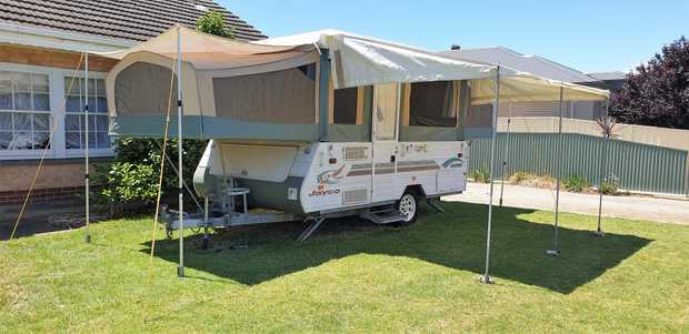 2004 Jayco Hawk Camper Trailer Sleeps up to 5 Queen size bed at front Double bed at rear (with...