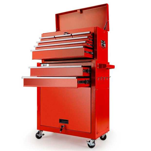 The New Bullet 8 Drawer Tool Box Cabinet is the ideal storage solution for all your tools, parts and...