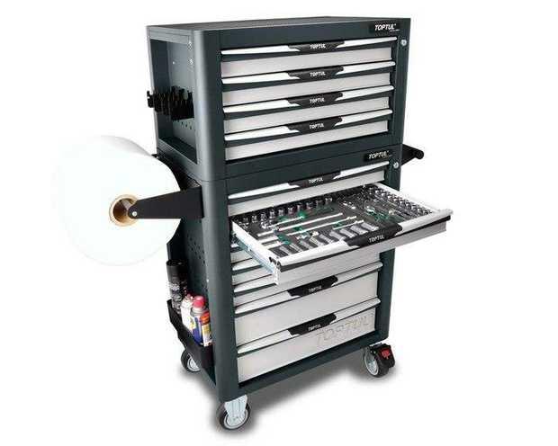 Toptul GW-08807/GV-27909 10 Drawer 367 PCS Pro Plus Series Tool Kit Grey Specifications 26 pcs 15...