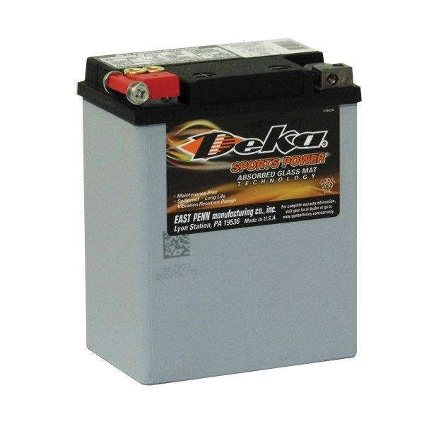 ETX15 Deka Power Sports AGM BatteryNote: YB14-BSSpecification:CCA220Ah C2014RC @25min6.5Weight Kg6.5L...