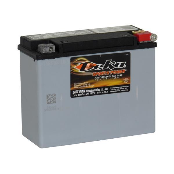 ETX18L Deka Power Sports AGM BatteryNote: Y50-N18L-ASpecification:CCA340Ah C2020RC @25min8.2Weight...