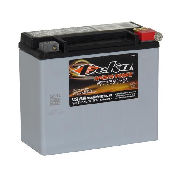 ETX20L Deka Power Sports AGM BatteryNote: YTX20L-BSSpecification:CCA310Ah C2017.5RC @25min5.7Weight...