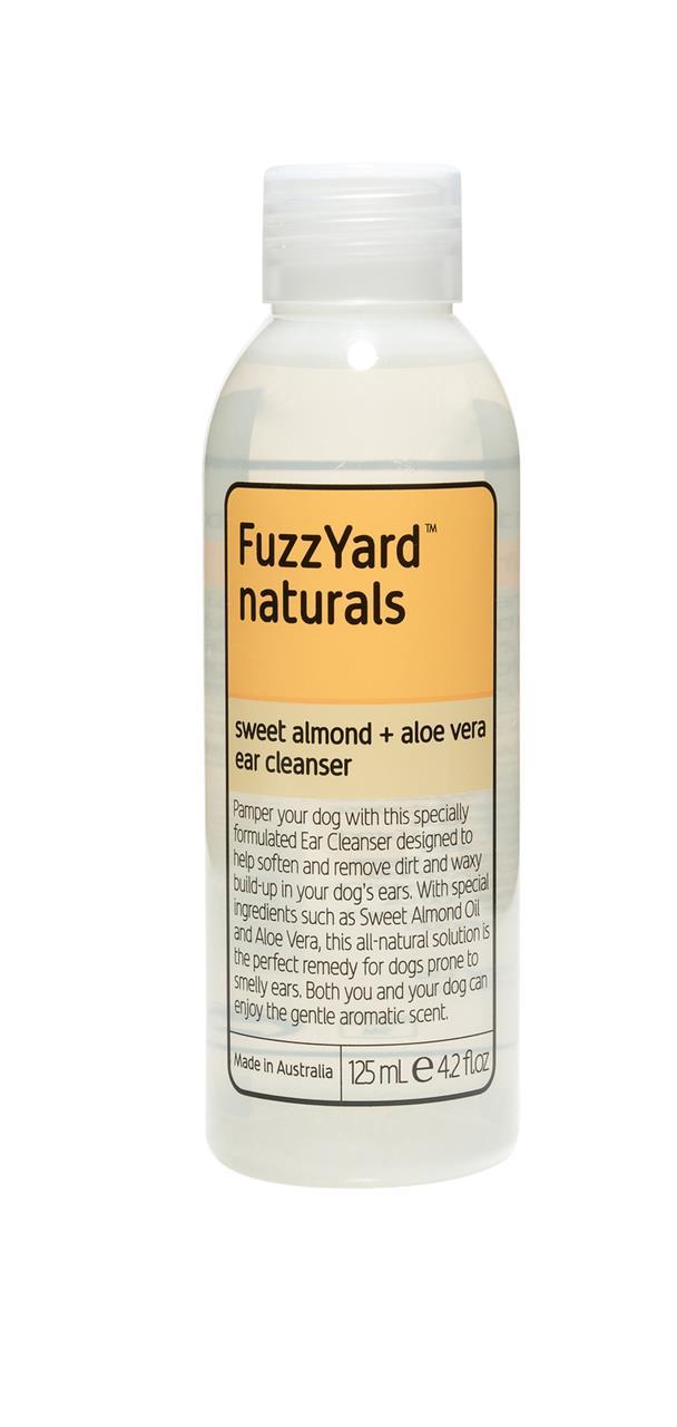 Fuzzyard Sweet Almond & Aloe Vera Ear Cleanser for Dogs 125ml