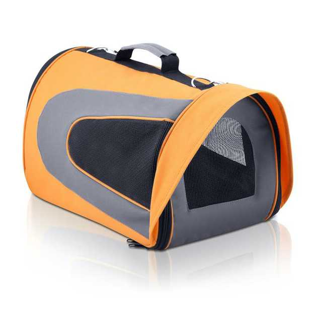 Pet Carrier & Travel Bag - Orange [Size: Large]