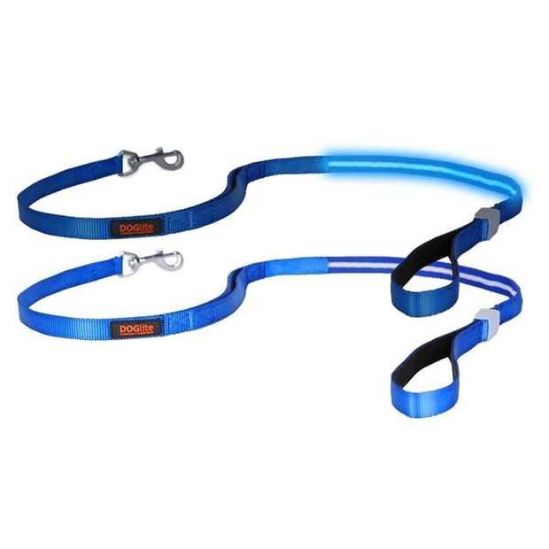 DogLite LED Light-up Dog Leash for Mini & Small Dogs - Blue Moon