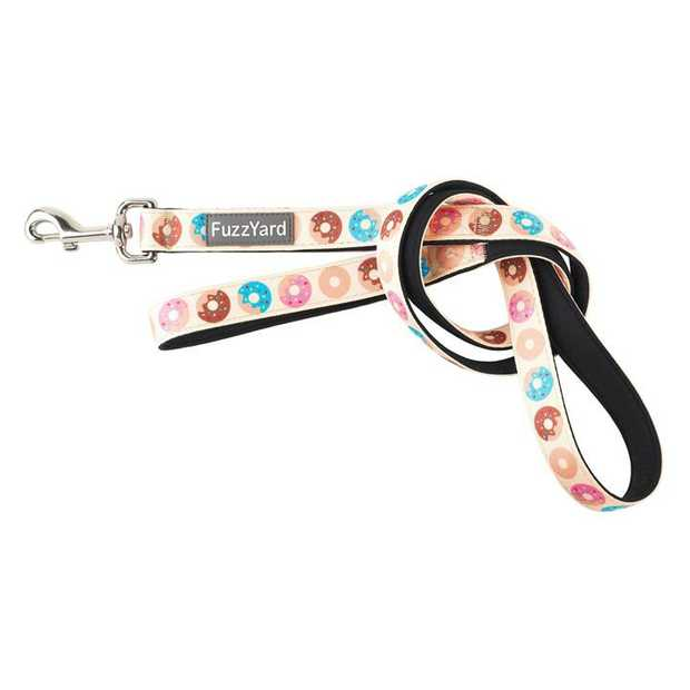 Let your buddy strut out in style with a little splash of fun with the FuzzYard Go Nuts Cream Dog Lead.