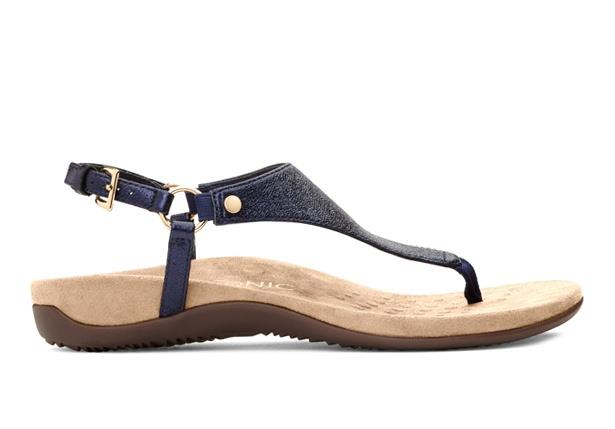 Vionic's Kirra Backstrap sandal is a stylish option for everyday wear. Complete with a soft leather...