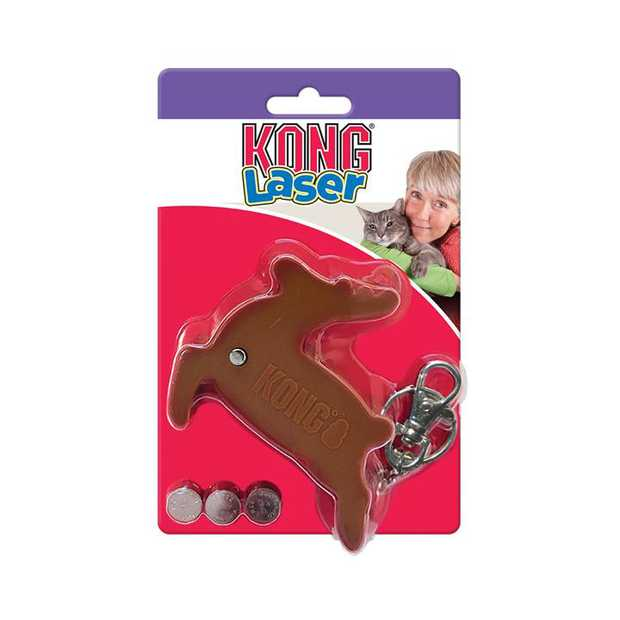 KONG Holiday Laser Interactive Cat Toy - Reindeer with included Batteries