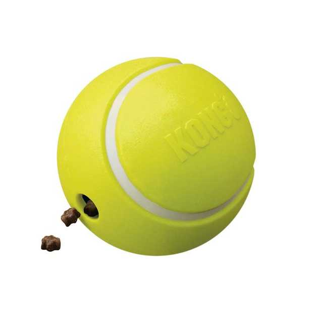 KONG Rewards Tennis Treat Dispensing Fetch Dog Toy - Small