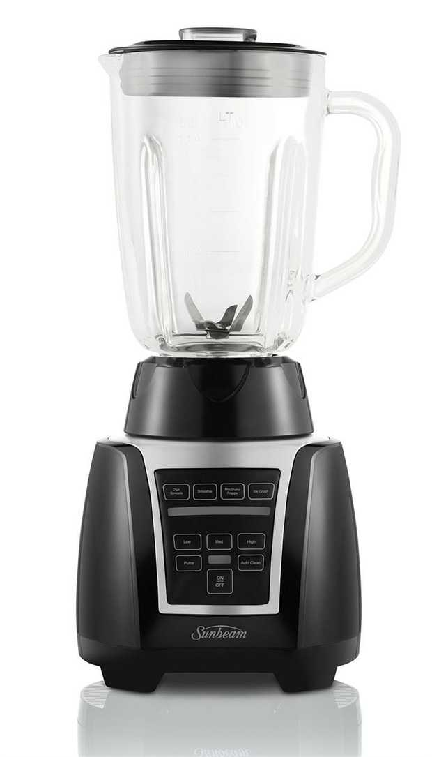 Auto Clean Function 4 pre-programmed Functions 3 Manual Speeds & Pulse 1.25L Glass jug Black colour ...