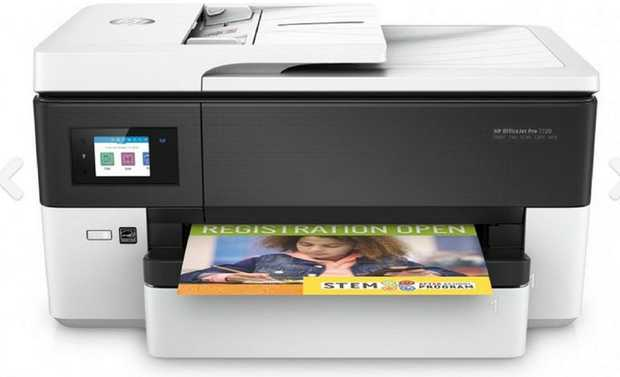 Key Features:  prints up to A3;  scans up to Legal              Quickly print documents using the HP...