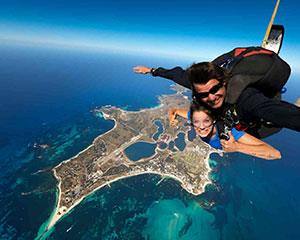 Experience the extreme thrill of skydiving over the beautiful Rottnest Island, finishing with a beach...