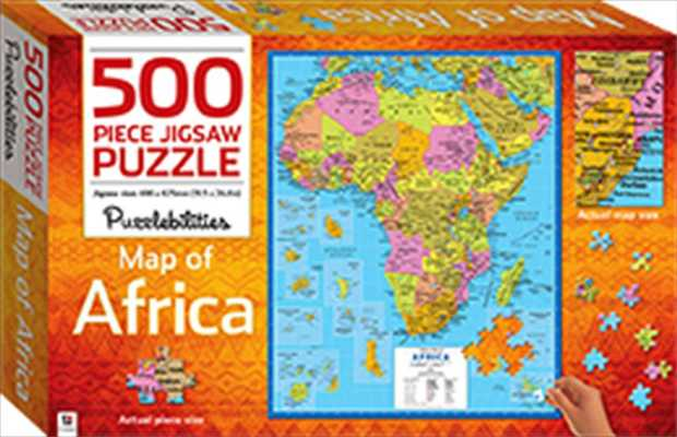 Learn about the world's second largest continent with this huge 500-piece jigsaw.   Featuring...