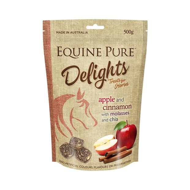 equine pure delights apple cinnamon molasses and chia  500g | Equine Pure food | pet supplies| Product...