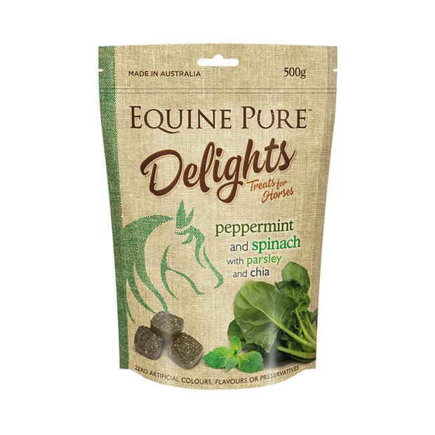 equine pure delights peppermint spinach parsley and chia  500g | Equine Pure food | pet supplies|...