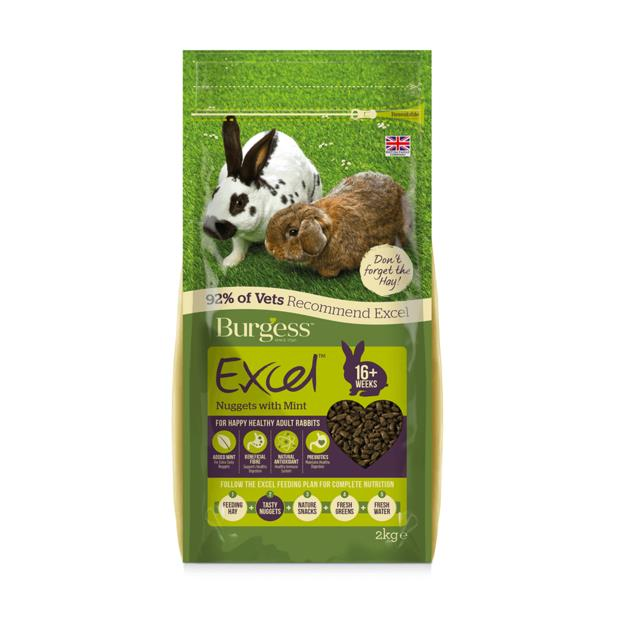 burgess excel rabbit nuggets mint  4kg | Burgess food | pet supplies| Product Information:...