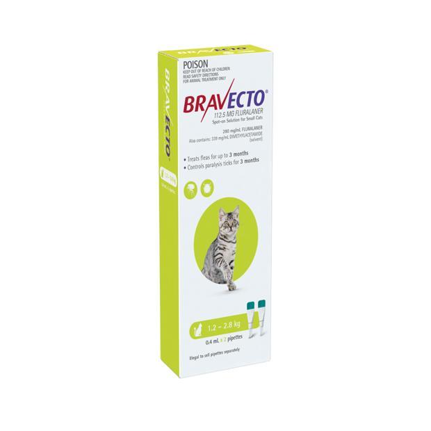 bravecto spot on for cats green  4 pack | Bravecto cat Flea&Tick Control | pet supplies| Product...